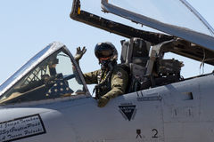 U.S. Air Force Air Show Pilot in Warthog Stock Images