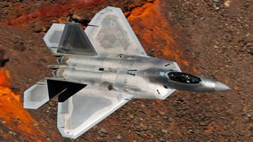 U.S. Air Force F-35 Joint Strike Fighter (Lightning II) jet flying royalty free stock image