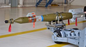 U.S. Air Force GBU-12 Paveway II Laser-Guided Smart Bomb Stock Photos