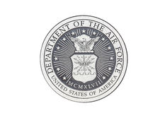 U.S. Air Force official seal. U.S.  Air Force official seal on a white background Royalty Free Stock Images