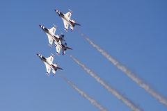 U.S. Air Force Thunderbirds. The United States Air Force Thunderbirds Air Demonstration Squadron performs for spectators at Luke Air Force Base in Glendale Royalty Free Stock Photography