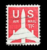 U.S Air Mail 11 cent Stock Image