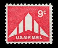 U S airmail 9 cent Zdjęcie Stock