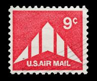 U.S Air Mail 9 cent Stock Photo