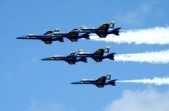 U S Angeli di blu navy che praticano per la manifestazione fotografie stock