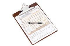 U.S. Application de passeport image stock