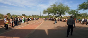 U.S.A., Arizona: Cose principali 2016 - linee di voto lunghe in Arizona Immagine Stock