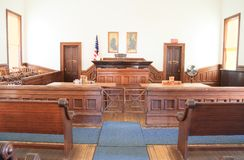 U.S.A., Arizona/pietra tombale: Vecchio ovest - aula di tribunale Fotografia Stock Libera da Diritti