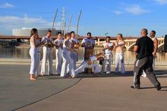 U.S.A., Arizona:  Un'esecuzione del gruppo di Capoeira immagini stock libere da diritti
