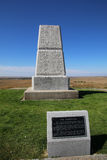 U.S. Army Memorial on Last Stand Hill at Little Bighorn Battlefi Stock Images