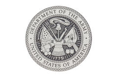 U.S. Army  official seal Stock Photo