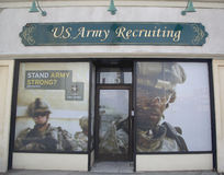 U.S. Army Recruiting Station in Lynbrook, New York Royalty Free Stock Image