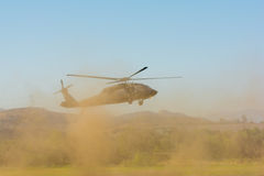 U.S. Army Sikorsky UH-60 Black Hawk helicopter Royalty Free Stock Photos