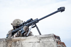 U.S. Army sniper. During the military operation Stock Images