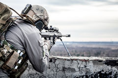 U.S. Army sniper. During the military operation Royalty Free Stock Photography