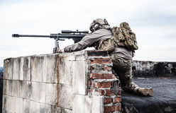 U.S. Army sniper. During the military operation Stock Photo