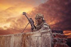 U S Atirador furtivo do exército foto de stock