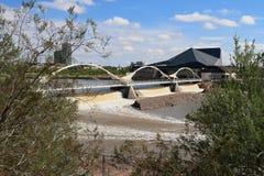 U.S.A., AZ: Tempe Dam After Heavy Rains Fotografie Stock