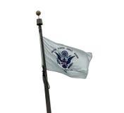 U S Bandeira da guarda costeira Fotografia de Stock