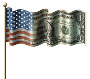 U.S. Bandeira do dólar Fotos de Stock