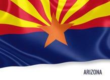 U S bandera de Arizona del estado stock de ilustración