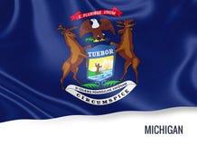 U S bandiera del Michigan dello stato fotografia stock libera da diritti