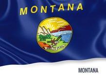 U S bandiera del Montana dello stato immagini stock
