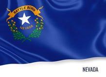 U S bandiera del Nevada dello stato fotografie stock libere da diritti