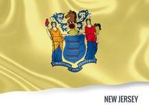 U S bandiera del New Jersey dello stato fotografie stock libere da diritti