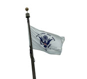 U S Bandiera della guardia costiera Fotografia Stock
