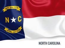 U S bandiera della Nord Carolina dello stato immagine stock libera da diritti