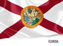 U S bandiera di Florida dello stato fotografie stock libere da diritti