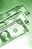 U.S. banknotes/paper currency Stock Image