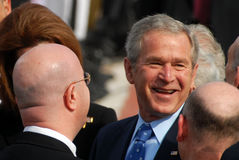 U.S. Besök för president George W. Bush till Israel Arkivbild