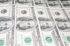 U.S. billetes de banco del dólar después de $ 100 Foto de archivo