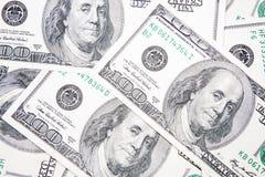 U.S. billetes de banco del dólar después de $ 100 Fotografía de archivo libre de regalías
