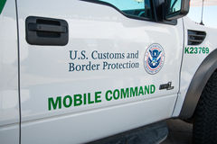 U.S. Border Patrol Vehicle. A United States Border Patrol vehicle in Tucson, Arizona Stock Photography