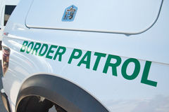 U.S. Border Patrol Vehicle. A United States Border Patrol vehicle in Tucson, Arizona Royalty Free Stock Image