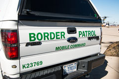 U.S. Border Patrol Vehicle. A United States Border Patrol vehicle in Tucson, Arizona Stock Photo