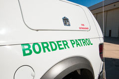 U.S. Border Patrol Vehicle. A United States Border Patrol vehicle in Tucson, Arizona Royalty Free Stock Photo
