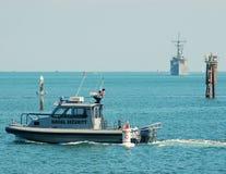 U.S. Bote patrulla de la marina Imagenes de archivo