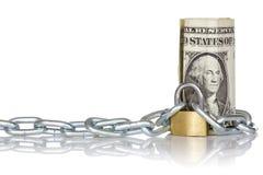 U.S. cédula do dólar com fechamento e corrente Imagens de Stock