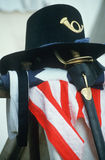 U.S. Calvary Hat. Sword and flag from American Civil War Stock Images