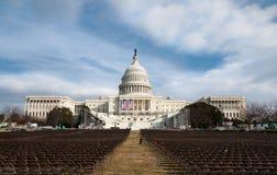 U.S. Campidoglio prima dell'inaugurazione di Obama Immagine Stock Libera da Diritti