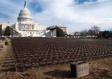 U.S. Campidoglio prima dell'inaugurazione di Obama Fotografia Stock Libera da Diritti
