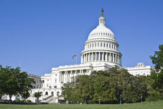 U.S.Capitol. U.S. Capitol building captured on a sunny day royalty free stock photo