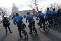 U.S. Capitol Bike Police Stock Photo