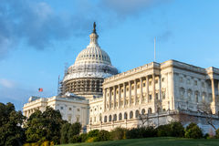 The U.S. Capitol Building during the Dome Restoration Project Stock Photography