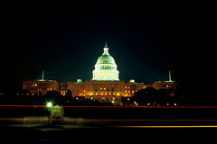 U.S. Capitol building at night Royalty Free Stock Image