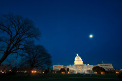 U.S. Capitol building at night Stock Photo